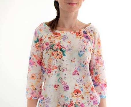 Bluza jasna w kwiaty