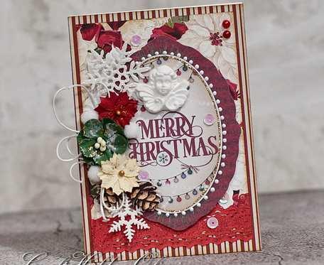 Merry Christmas - z aniołkiem vintage