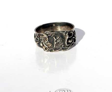 Fehu w esach-floresach - pierścionek