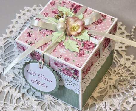 Exploding box - kartka pudełko na ŚLUB