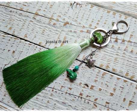 letni, zielony breloczek