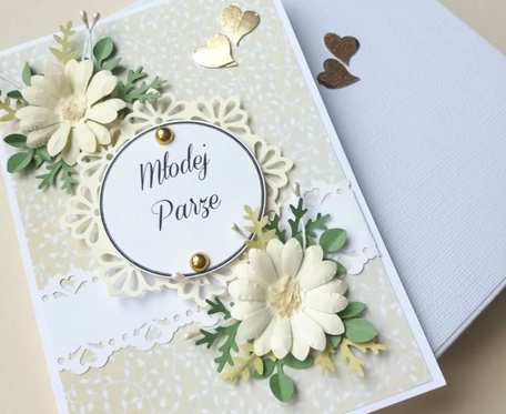 Klasyczna Elegancja  - Kartka ślubna