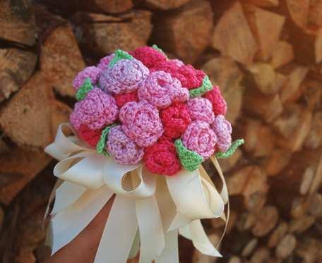 Bukiecik bawełnianych różyczek