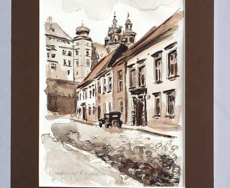 Kraków - ul. Kanonicza - akwarela