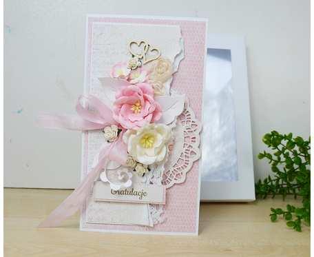 Różowy komplet ślubny