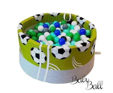 Suchy basen BabyBall z piłeczkami (250 szt) - piłki - grube dno - Idealny prezent na Roczek