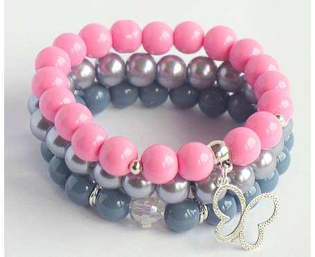 Bransoletka Pink&Grey
