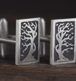Spinki do mankietów z drzewem