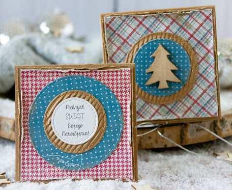Jestem z najpiękniejszych PODARKÓW ŚWIĄTECZNYCH stworzony przez Mrufru. Mini kartka w filigranowym pudełeczku. Boże Narodzenie (m04)