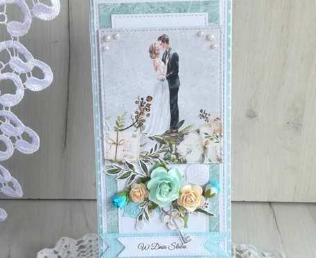 Kartka ślubna DL w pudełku Truly Yours GOTOWA