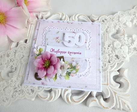 Kartka urodzinowa w pudełku 91