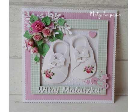 Kartka z bucikami na narodziny