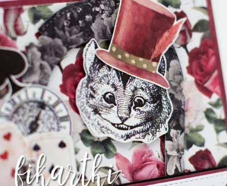 Kartka urodzinowa z Kotem z Alicji w Krainie Czarów KU2009