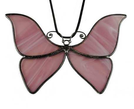 Szklana zawieszka motyl (witraż)(fioletowa) #1