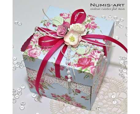 Exploding box - kartka pudełko na CHRZEST / NARODZINY dziecka