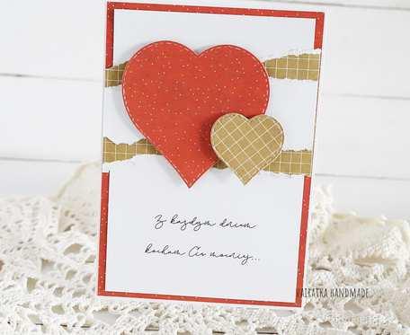 Kartka walentynkowa z sercami, 596