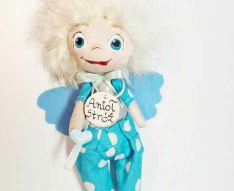 Mały Wesoły aniołek stróż