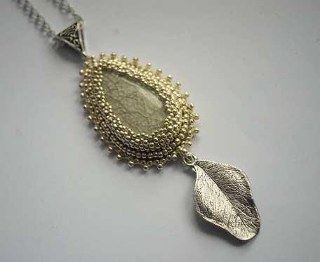 Zawieszka koralikowa Silver Leaf
