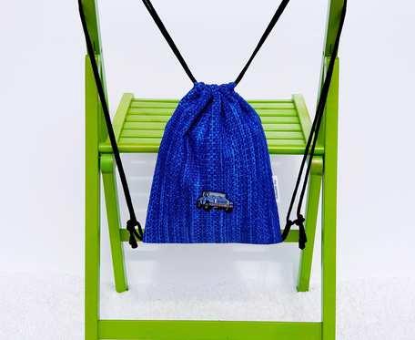 Plecak – Worek dla dzieci niebieski wzór i samochód