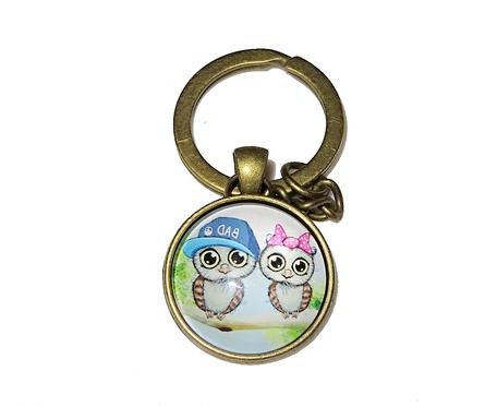 Breloczek do kluczy - Sowa 003
