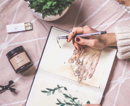 Miętowa wanilia - naturalna świeca sojowa
