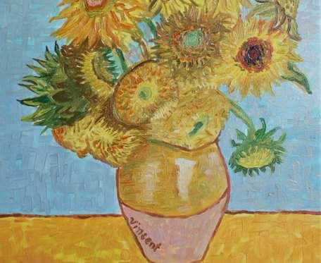 ręcznie malowane słoneczniki
