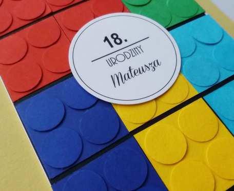 Kartka urodzinowa LEGO