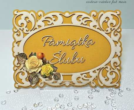 KARTKA RAMKA PAMIĄTKA w dniu ślubu personalizowana