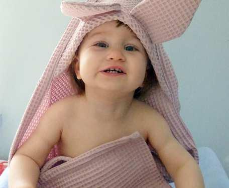 Duży ręcznik niemowlęcy z kapturkiem