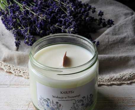 Naturalna, zapachowa świeca sojowa WAKACJE W PROWANSJI bardzo duża