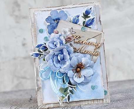 Kochanej Mamie - błękity bukiet