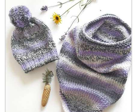 Komplet zimowy Vikking - czapka i otulacz