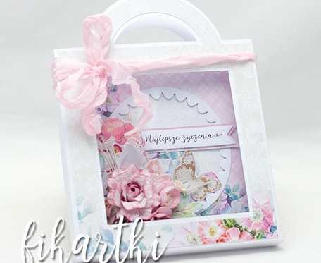 Kartka urodzinowa/ślubna w torebce KT2101