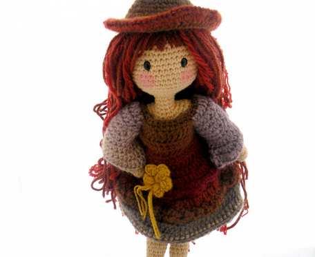 Amigurumi lalka czarownica - szydełkowa lala