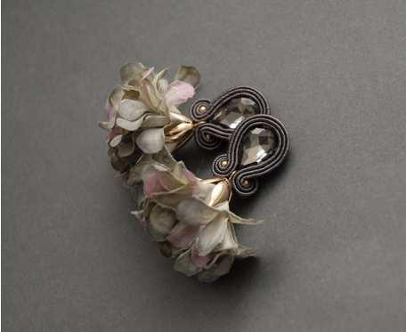 kolczyki lub klipsy sutasz z kwiatkiem