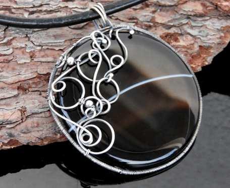 Wisiorek srebrny z sardonyksem