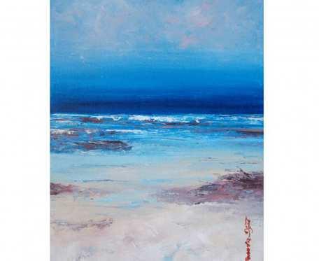 Rajska plaża - olej na płótnie