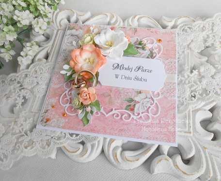 Ślubna kartka w pudełku 66