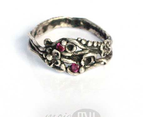 Kwiatowy II - pierścionek