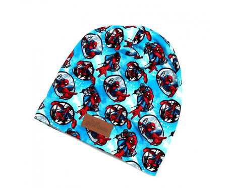 Kolorowa czapka beanie uniwersalna Spiderman