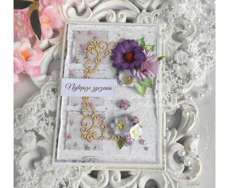 Kartka ślubna A6 w kopercie 3D 03