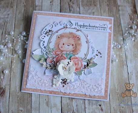 Kartka urodzinowa WoodlandFriends Girl GOTOWA