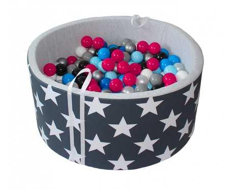 Suchy basen BabyBall z piłeczkami (200 szt) - grube dno 4 cm - Stargazing