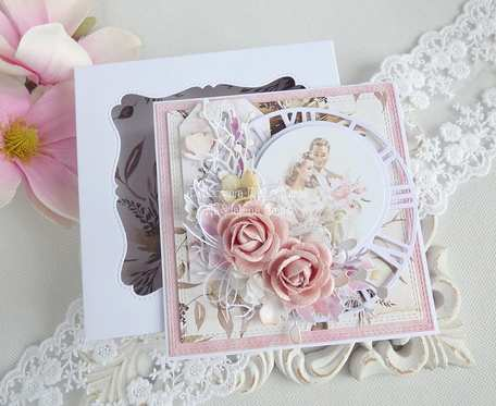 Ślubna kartka w pudełku 232