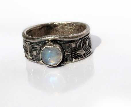 Księżycowe kwadraty - pierścionek