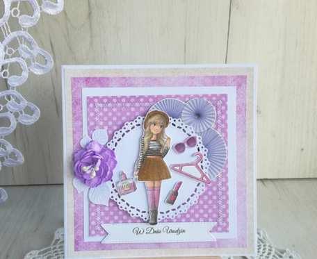 Kartka urodzinowa dla dziewczynki Kara&Lina GOTOWA