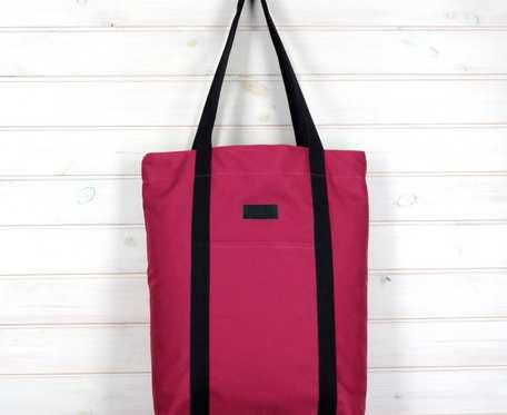 Wegańska torba shopperka Premium wrzosowa