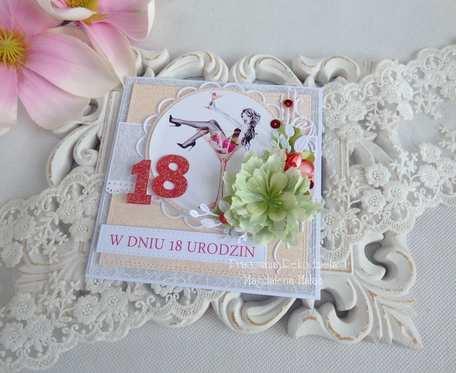 Kartka na 18 urodziny w pudełku 30