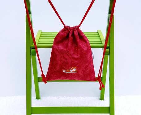 Plecak – Worek dla dzieci czerwony z trampkami
