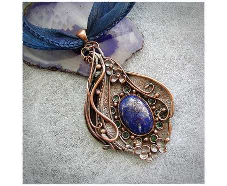 Naszyjnik Wisiorek z Lapisem Lazuli